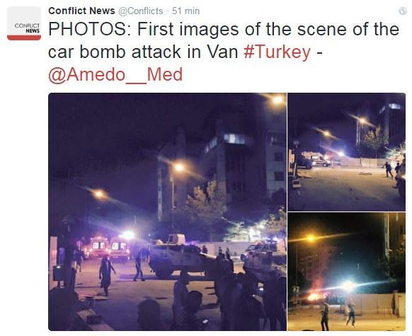 Pierwsze zdjęcia z miejsca wybuchu /Twitter