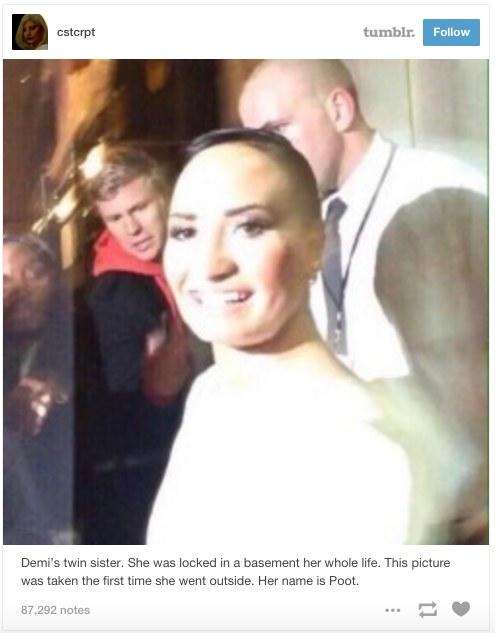Pierwsze zdjęcie dotyczące Poot Lovato z serwisu Tumblr /