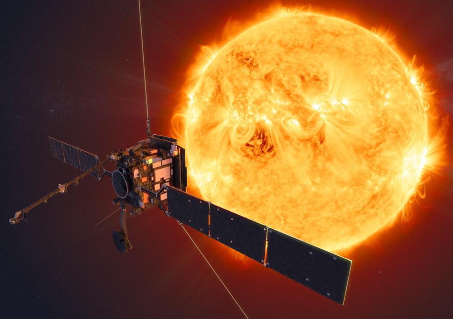 Pierwsze zdjęcie Słońca uzyskane przez sondę kosmiczną Solar Orbiter /ESA/ATG medialab /PAP/EPA