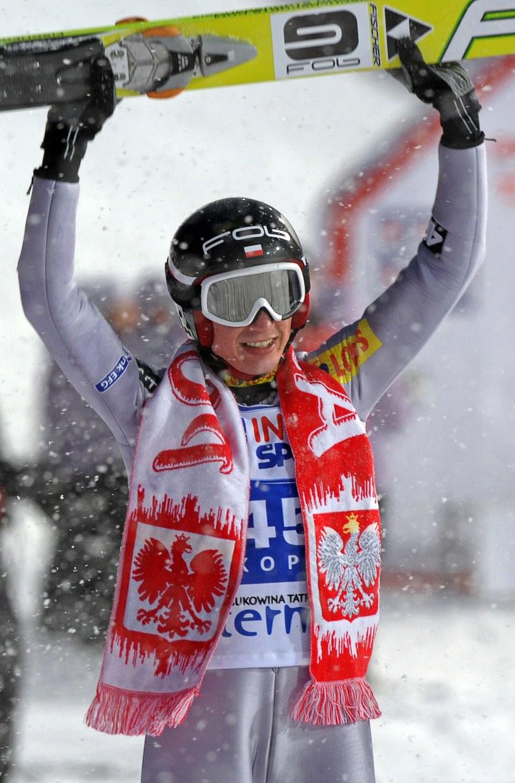 Pierwsze zwycięstwo Kamila Stocha w karierze. /AFP