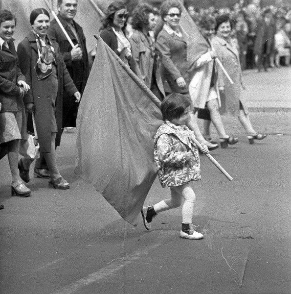 Lublin 01.05.1975 r., obchody święta 1 Maja