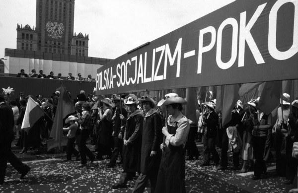 Pierwszomajowy pochód w Warszawie, lata 70.