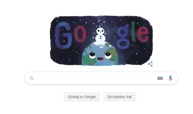 Pierwszy dzień zimy - to właśnie dziś! Przypomina o tym Google Doodle /Zrzut ekranu /
