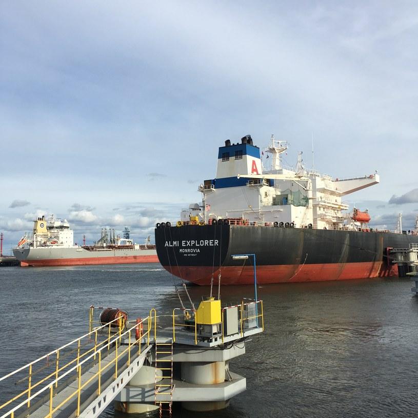 Pierwszy ładunek ropy naftowej, który trafił do Polski ze Stanów Zjednoczonych / inf. prasowa /&nbsp
