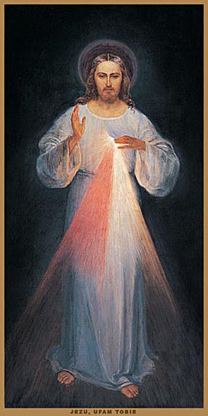 Pierwszy obraz Jezusa Miłosiernego, namalowany przez Eugeniusza Kazimirowskiego /INTERIA.PL