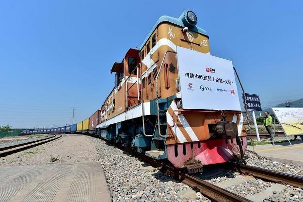Pierwszy pociąg towarowy z Wielkiej Brytanii dotarł do Chin. Nz. wjazd na dworzec w Yiwu /AFP