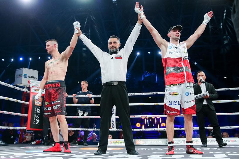 Pierwszy pojedynek Pawła Stępnia (z lewej) i Marka Matyji zakończył się remisem / MACIEJ GOCLON / FOTONEWS / NEWSPIX.PL /Newspix