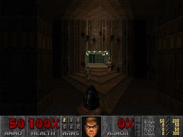 """Pierwszy poziom """"Dooma II"""" pod Doomem Retro. Czysty minimalizm. /INTERIA.PL"""