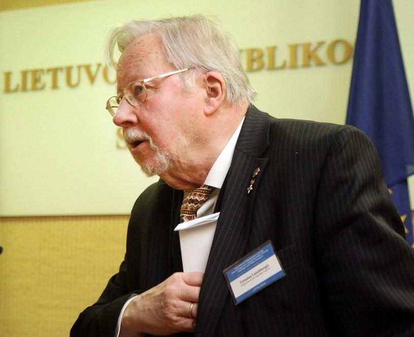 Pierwszy przywódca odrodzonej Litwy - Vytautas Landsbergis /AFP