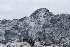 Pierwszy śnieg na Kasprowym Wierchu