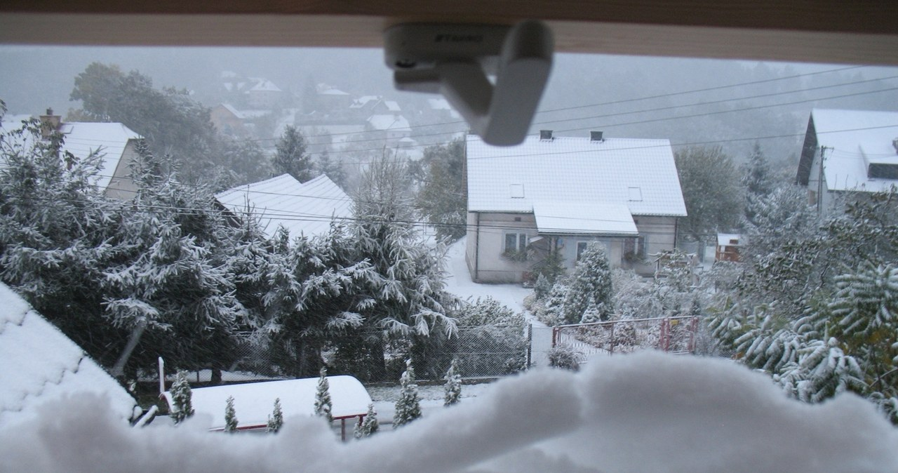 Pierwszy śnieg tej jesieni [WASZE ZDJĘCIA]