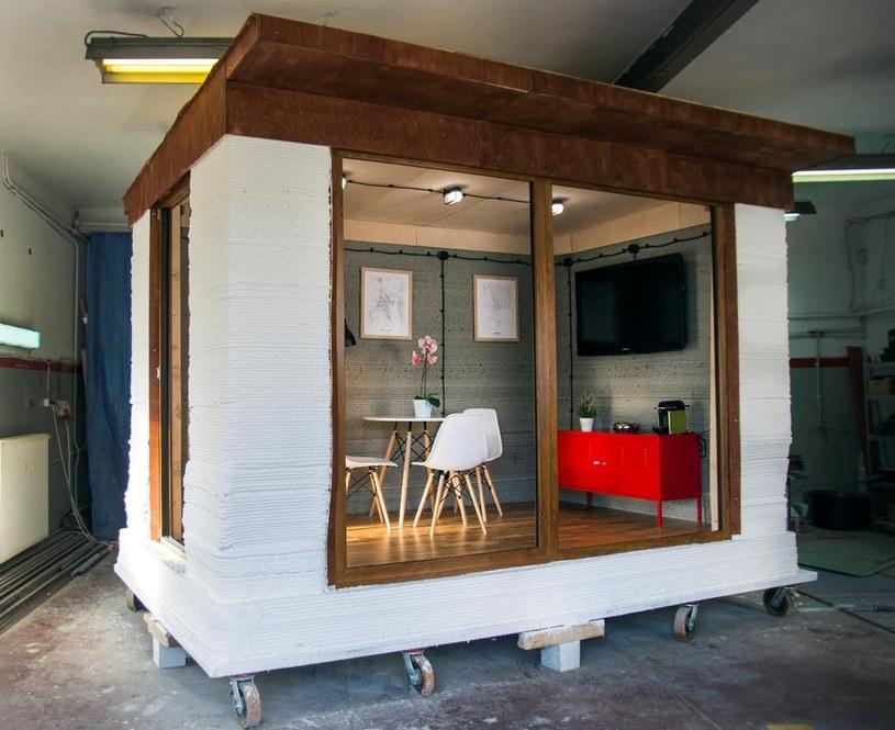 Pierwszy w Polsce betonowy budynek z drukarki 3D /materiały prasowe
