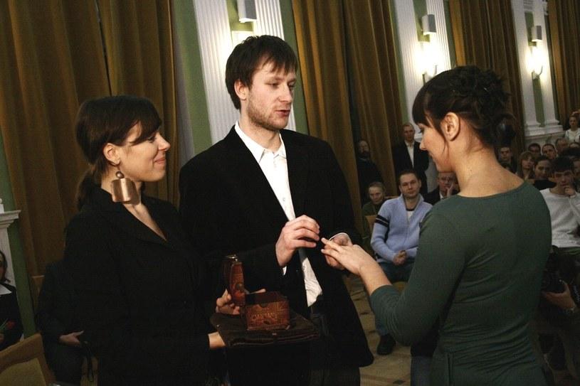 Pierwszy w Polsce ślub humanistyczny, Warszawa, 2007 /Dominik Pisarek /Reporter