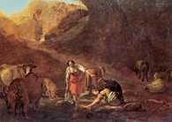 Pieter van Laer, Pasterz i praczki przy źródle /Encyklopedia Internautica