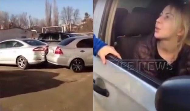 Pijana blondynka uszkodziła w sumie 17 samochodów /