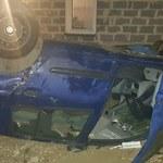 Pijany kierowca dachował. W samochodzie były 3 jego córki