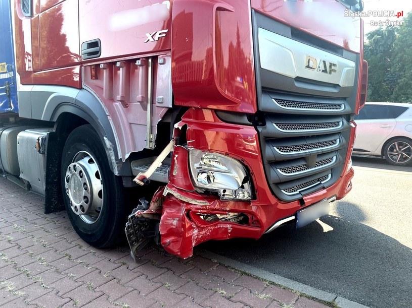 Pijany kierowca niszczył okolicę wielką ciężarówką /