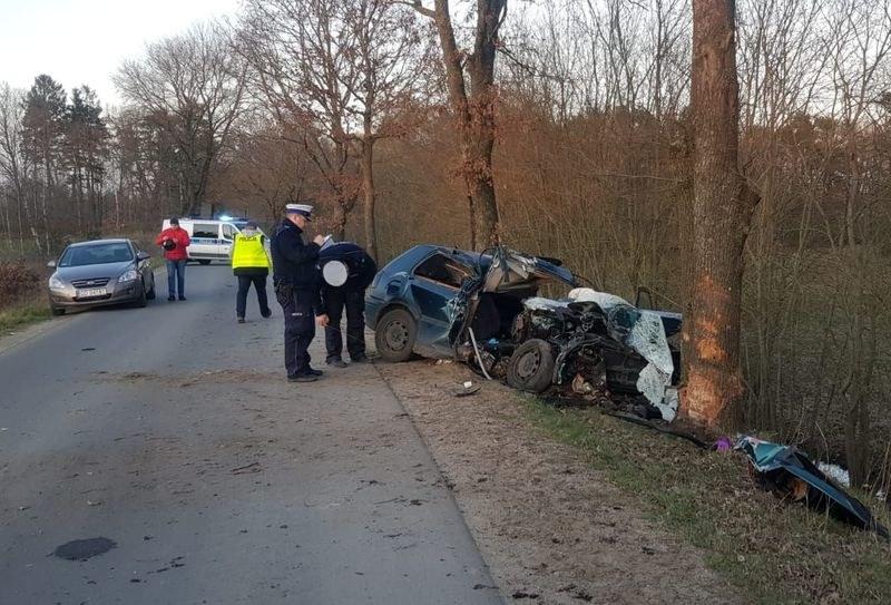 Pijany kierowca przeżył, pasażer zginął /Policja