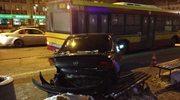 Pijany kierowca wjechał w przystanek. Pięć osób jest rannych