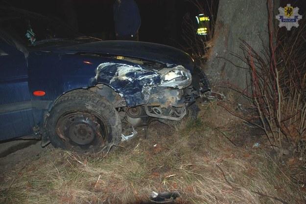 Pijany kierowca zatrzymał się na drzewie /KWP Gdańsk