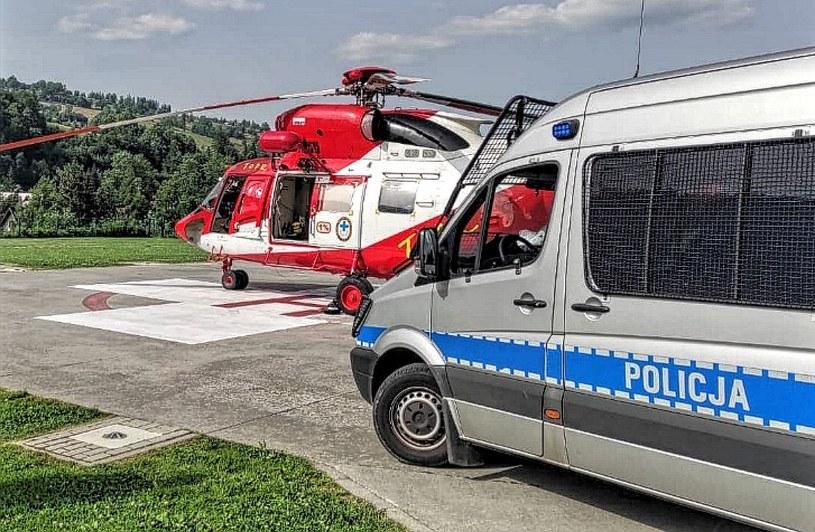 Pijany turysta został ewakuowany helikopterem TOPR /KPP Zakopane /Policja