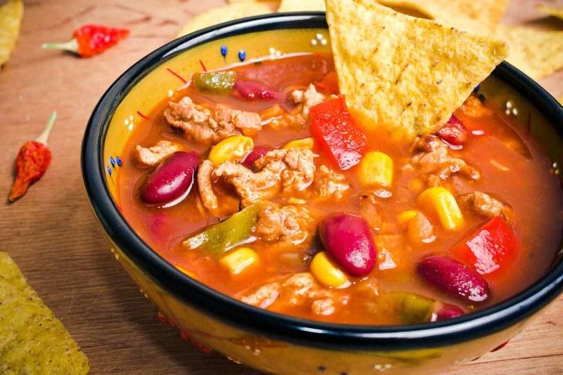 Pikantna zupa meksykańska /123RF/PICSEL