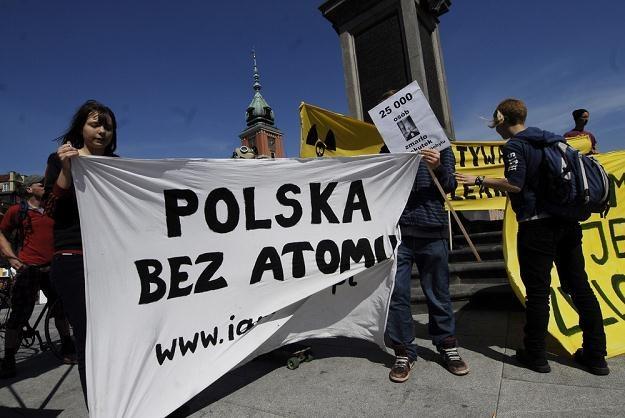 Pikieta przeciwko budowie elektrowni atomowej, fot. Zbyszek Kaczmarek /Agencja SE/East News