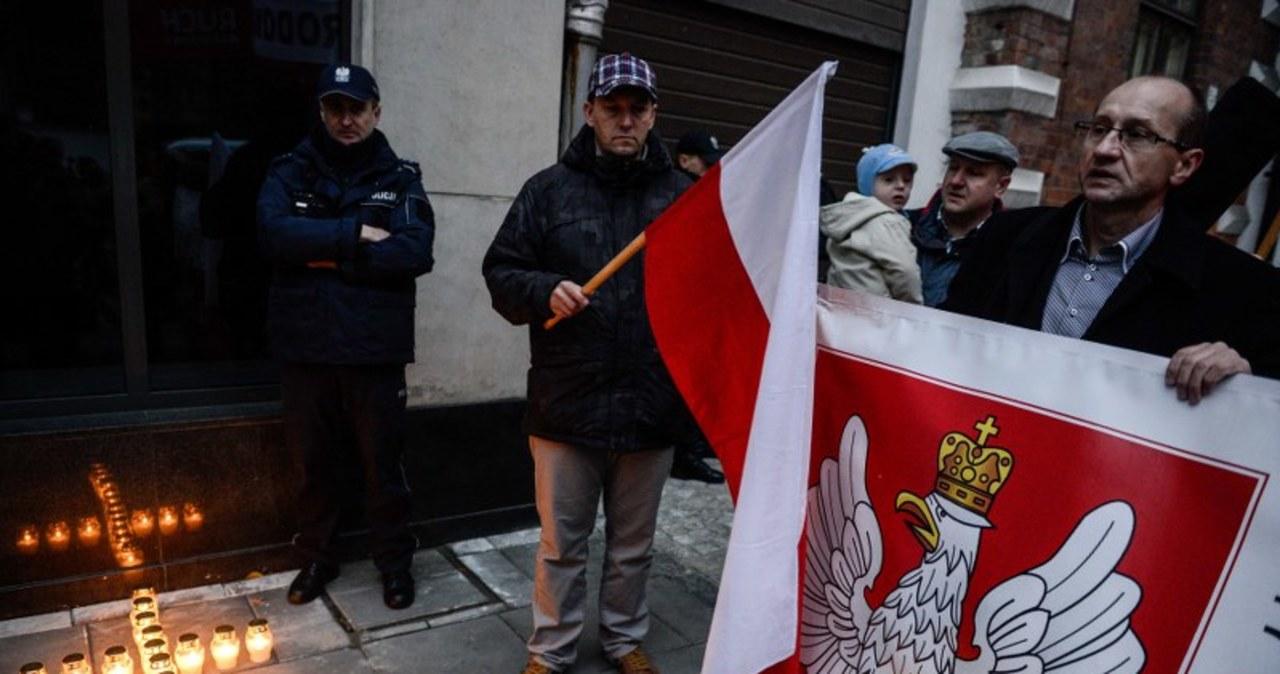 Pikieta przed ambasadą Ukrainy w Warszawie
