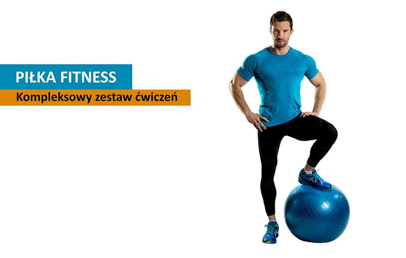 Piłka fitnessowa to tani przyrząd treningowy, który wykorzystać możemy ćwicząc we własnym domu /INTERIA.PL