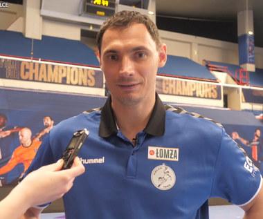 Piłka ręczna. Krzysztof Lijewski (drugi trener Łomży Vive Kielce) po meczu z PSG. Wideo
