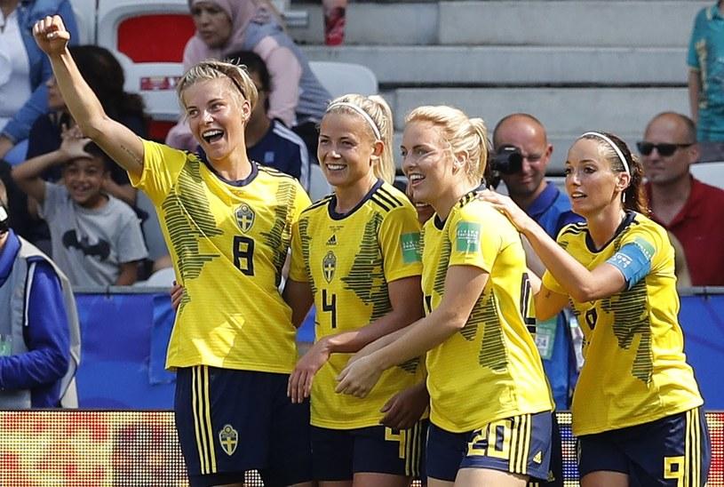 Piłkarki reprezentacji Szwecji /PAP/EPA