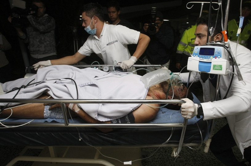 Piłkarz Alan Ruschel trafił do szpitala w La Ceja /PAP/EPA