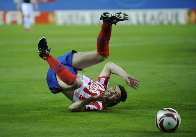 Piłkarz Atletico Madryt Tomas Ujfalusi /AFP
