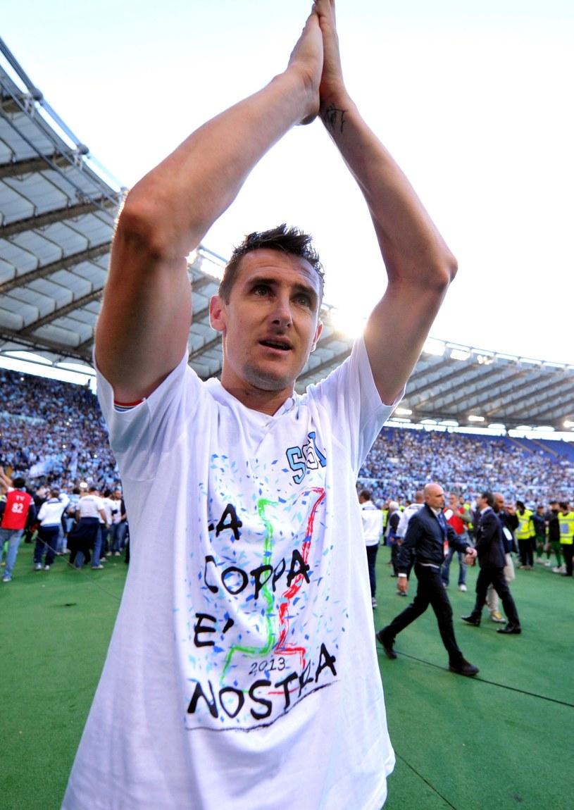 Piłkarz Lazio Miroslav Klose /AFP