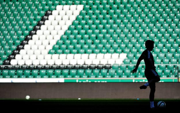 Piłkarz Legii Warszawa Alan Fialho podczas treningu drużyny przed meczem z Ruchem Chorzów /Bartłomiej Zborowski /PAP