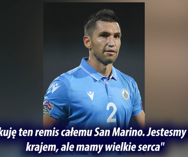 """Piłkarz San Marino rozpłakał się na wizji. """"Ten remis to jak spełnienie marzeń"""". Wideo"""