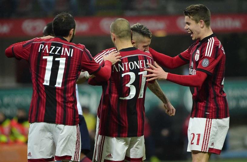 Piłkarze AC Milan niezbyt często mają powody do radości /AFP