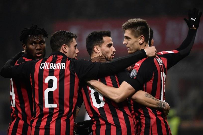 Piłkarze AC Milan /MARCO BERTORELLO /AFP