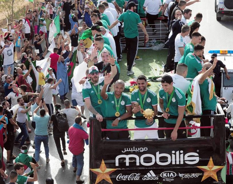 Piłkarze Algierii fetują triumf w Pucharze Narodów Afryki AD 2019 /Newspix