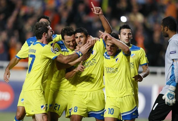 Piłkarze APOEL-u Nikozja /AFP