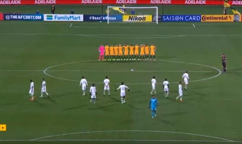 Piłkarze Arabii Saudyjskiej przed meczem z Australią; źródło: Facebook /