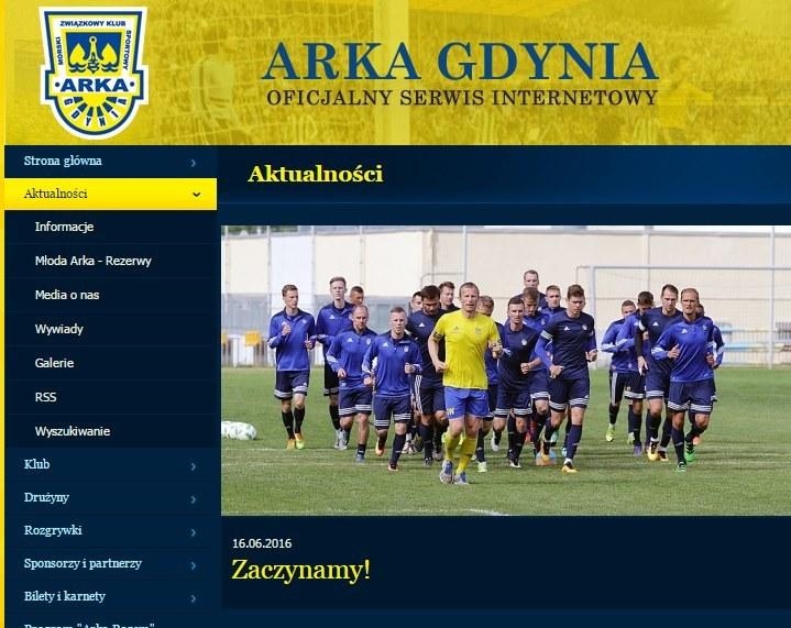 Piłkarze Arki Gdynia szlifują formę; źródło: arka.gdynia.pl /