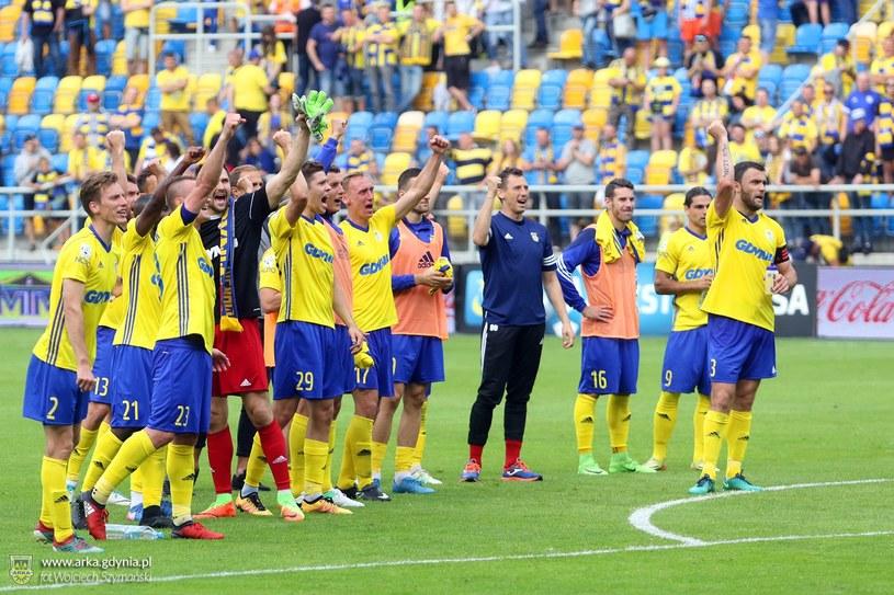 Piłkarze Arki Gdynia /materiały prasowe