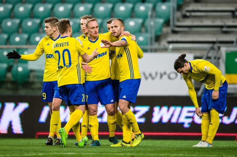 Piłkarze Arki Gdynia /Maciej Witkowski /East News