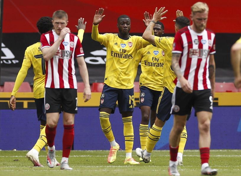 Piłkarze Arsenalu celebrują gola Pepe /PAP/EPA