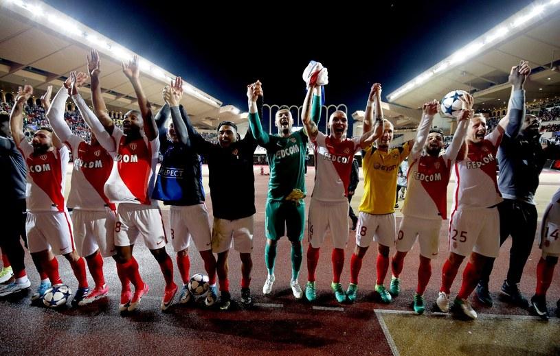 Piłkarze AS Monaco świętują awans do półfinału Ligi Mistrzów /PAP/EPA
