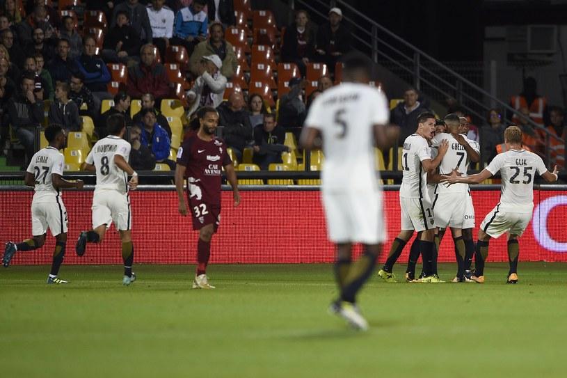 Piłkarze AS Monaco świętują zdobycie bramki w meczu z Metz /AFP