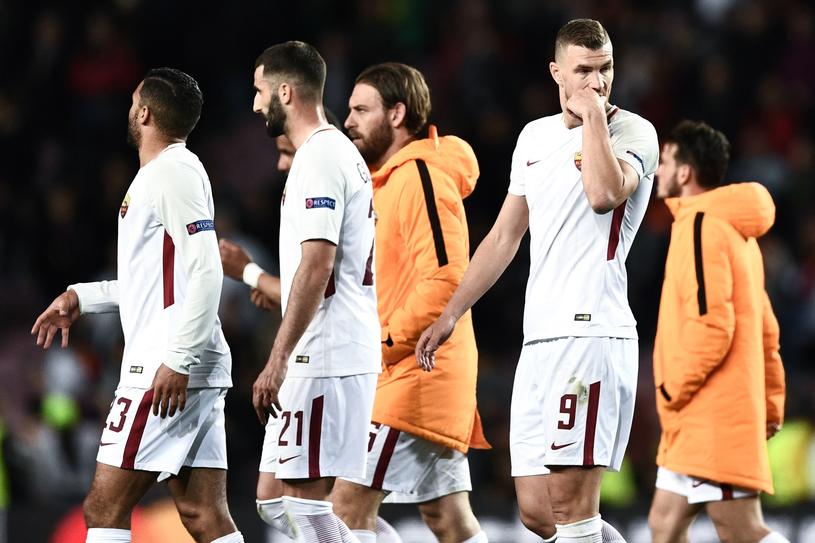 Piłkarze AS Roma /AFP