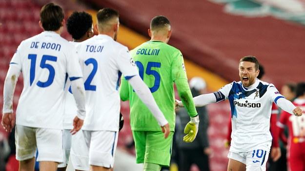 Piłkarze Atalanty po wygranej z Liverpoolem /Jon Super / POOL /PAP