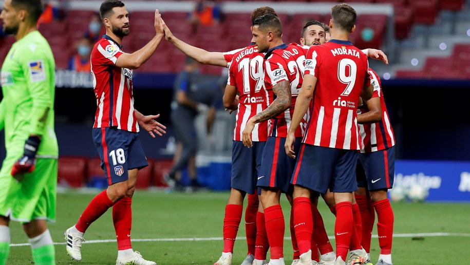 Piłkarze Atletico Madryt /Chema Moya /PAP/EPA